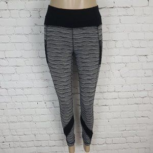 Lululemon Inspire Tight Textured Wave 2 Black Gray